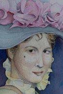 Detail aus dem Aquarell - Eliza Doolittle aus My fair Lady - von Frank Koebsch