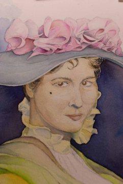 Durch Lasuren entsteht Schritt für Schritt das Portrait der Eliza Doolittle aus My fair Lady © Frank Koebsch