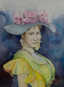 Eliza Doolittle aus My fair Lady (c) Aquarell von Frank Koebsch