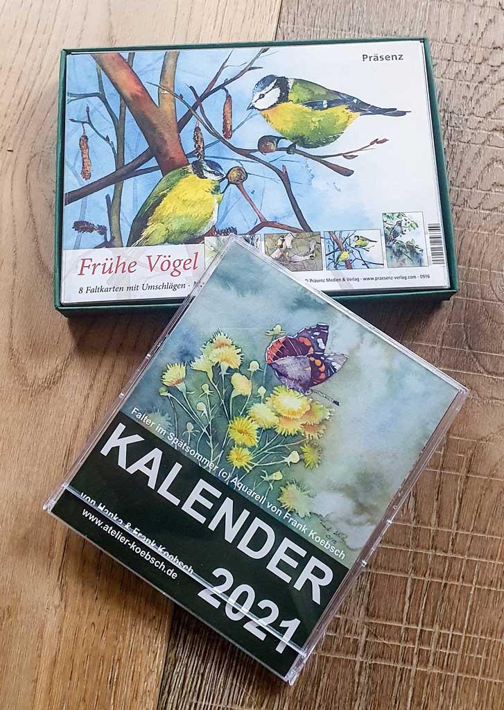 Geschenkbox - Frühe Vögel - und Kalender 2021 (c) Frank Koebschk