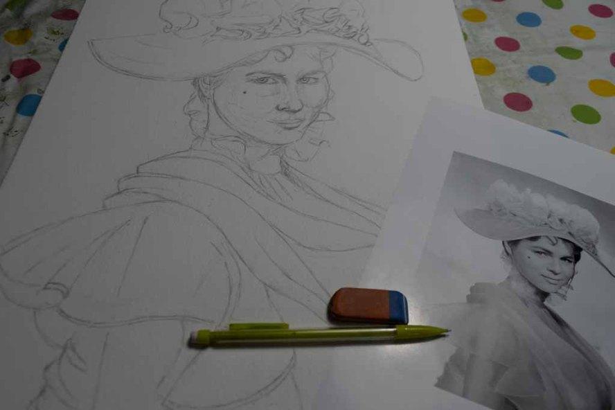 Skizze für Eliza Doolittle aus My fair Lady (c) FRank Koebsch (2)