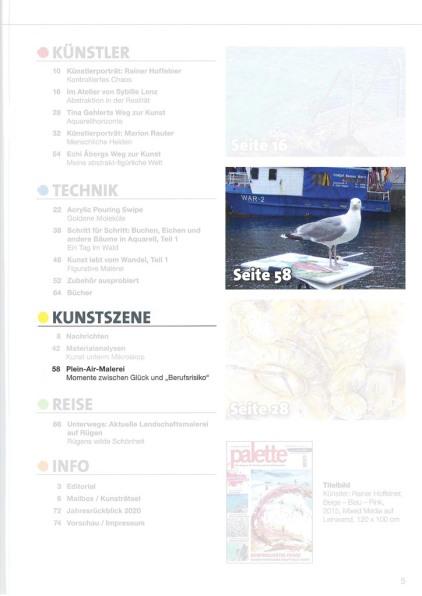 Die Palette 2021 - 1 berichtet über Plein Air Malerei Seite 5