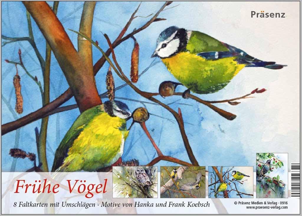 Kunstkarten-Box - Frühe Vögel - mit Aquarelle von Hanka und FRank Koebsch k