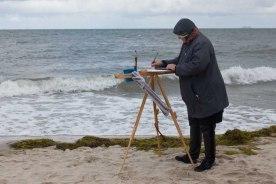 Malen an der herbstlichen Ostsee (c) Frank Koebsch (2)