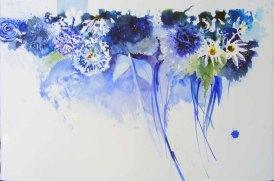 Blauer Sommer (c) Aquarell von Hanka Koebsch