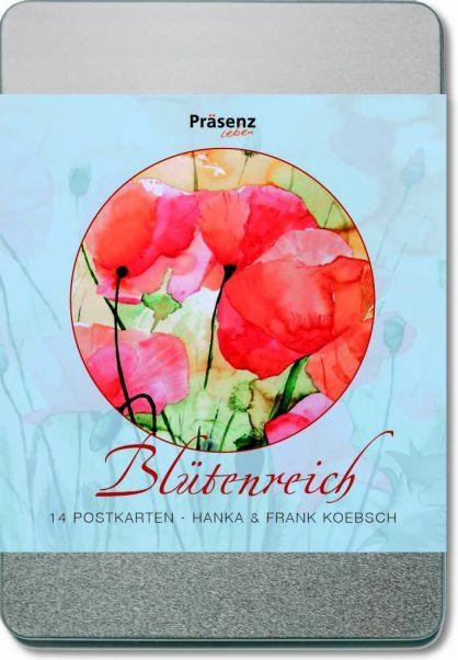 Postkartenbox - Blütenreich - mit Blumen Aquarellen von Hanka u Frank Koebsch