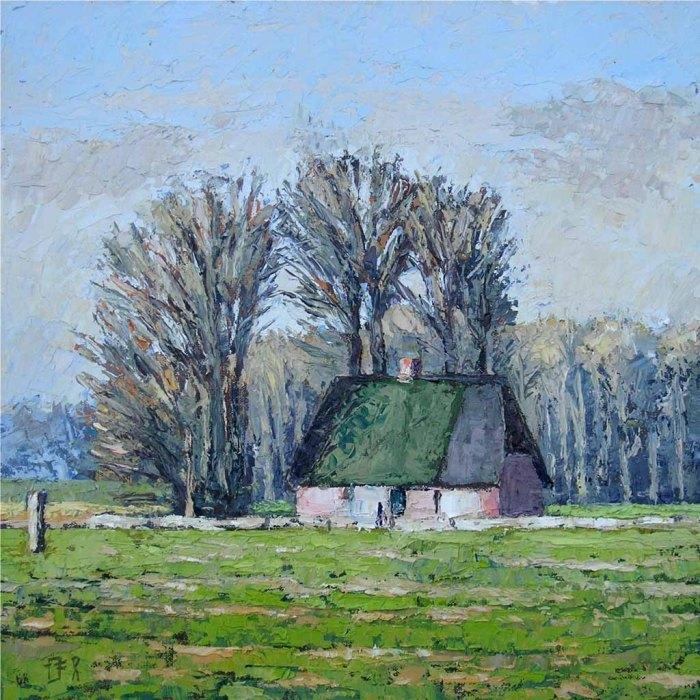 Staatshofkate, Öl auf Leinwand 30 x 30 cm, Thomas Freund, 2009
