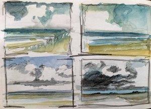 Skibbel - Wolken über der Ostsee von Sonja Jannichsen