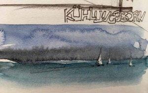 Skribbel - Boote auf der Ostsee von Sonja Jannichsen