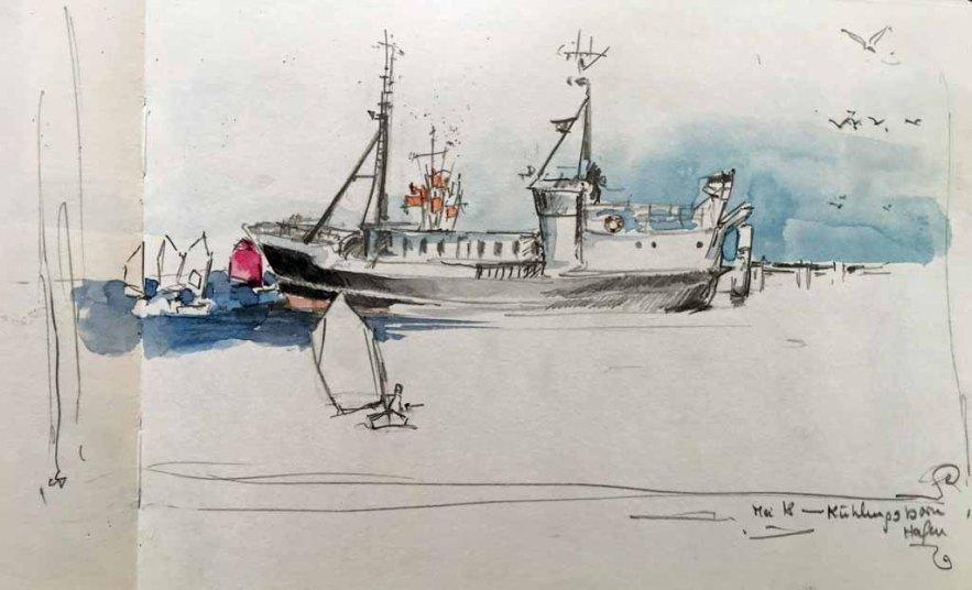 Skribbel - Kühlungsborner Hafen von Sonja Jannichsen