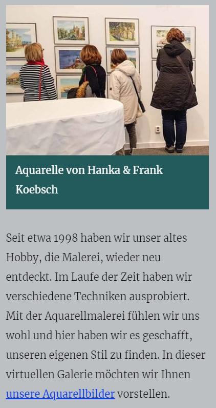 Aquarelle von Hanka und Frank Koebsch - atelier-koebsch.de