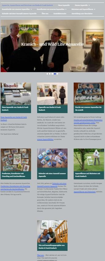 Startseite mit einem neuen Look and Feel unsere Web Seite atelier-koebsch.de auf einem Laptop (2)