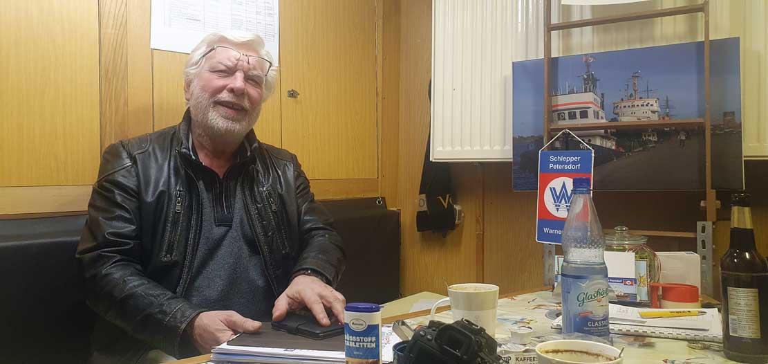 Dieter Mühlner vom Verein des Schleppers Petersdorf (c) Frank Koebsch