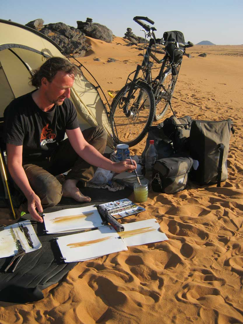 Jens Hübner mit dem Fahrrad in Sudahn © Privat