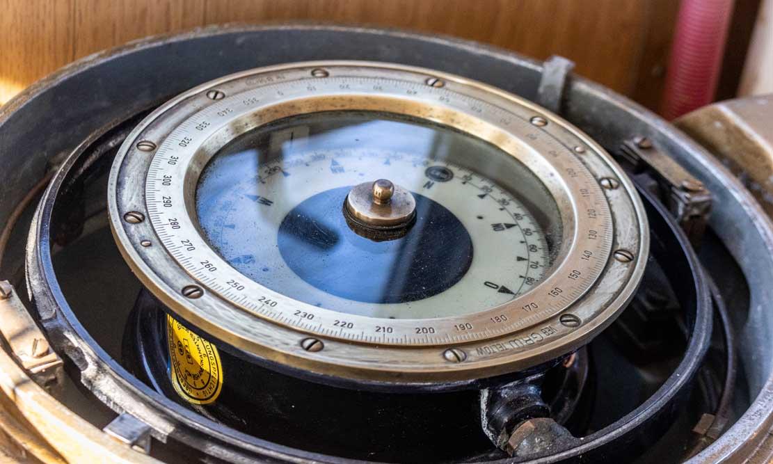 Kreiselkompass des Schleppers Petersdorf (c) Frank Koebsch