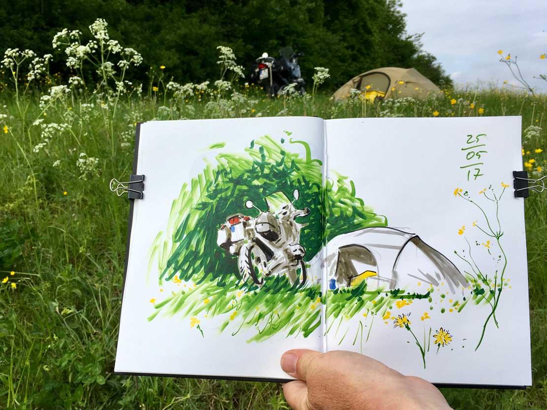Unterwegs mit dem Motorrad © Jens Hübner