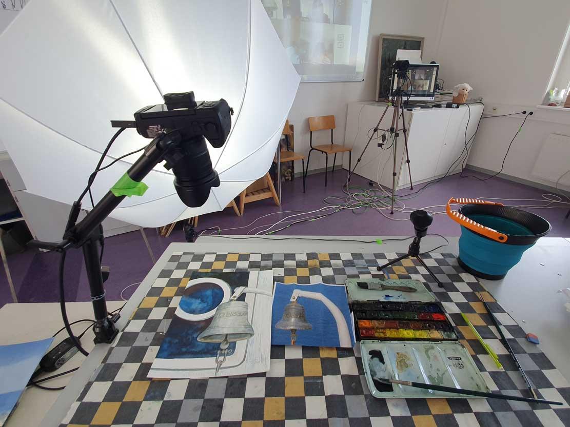 Online Aquarellkurs Schlepper Petersdorf in der VHS Rostock (c) Frank Koebsch (3)