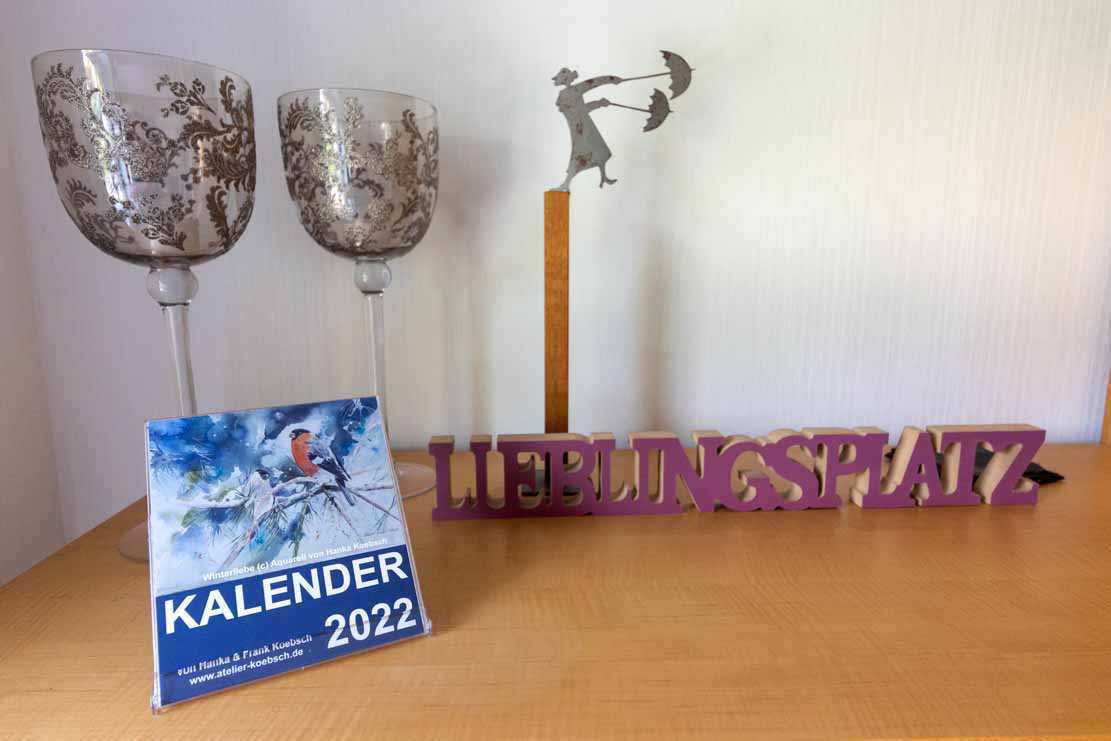 Kalender 2022 mit Aquarellen von Hanka & Frank Koebsch - Aufstellungsvariante (1)