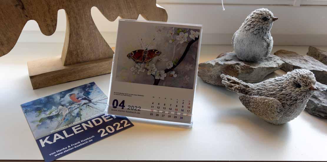Kalender 2022 mit Aquarellen von Hanka & Frank Koebsch - Aufstellungsvariante (2)