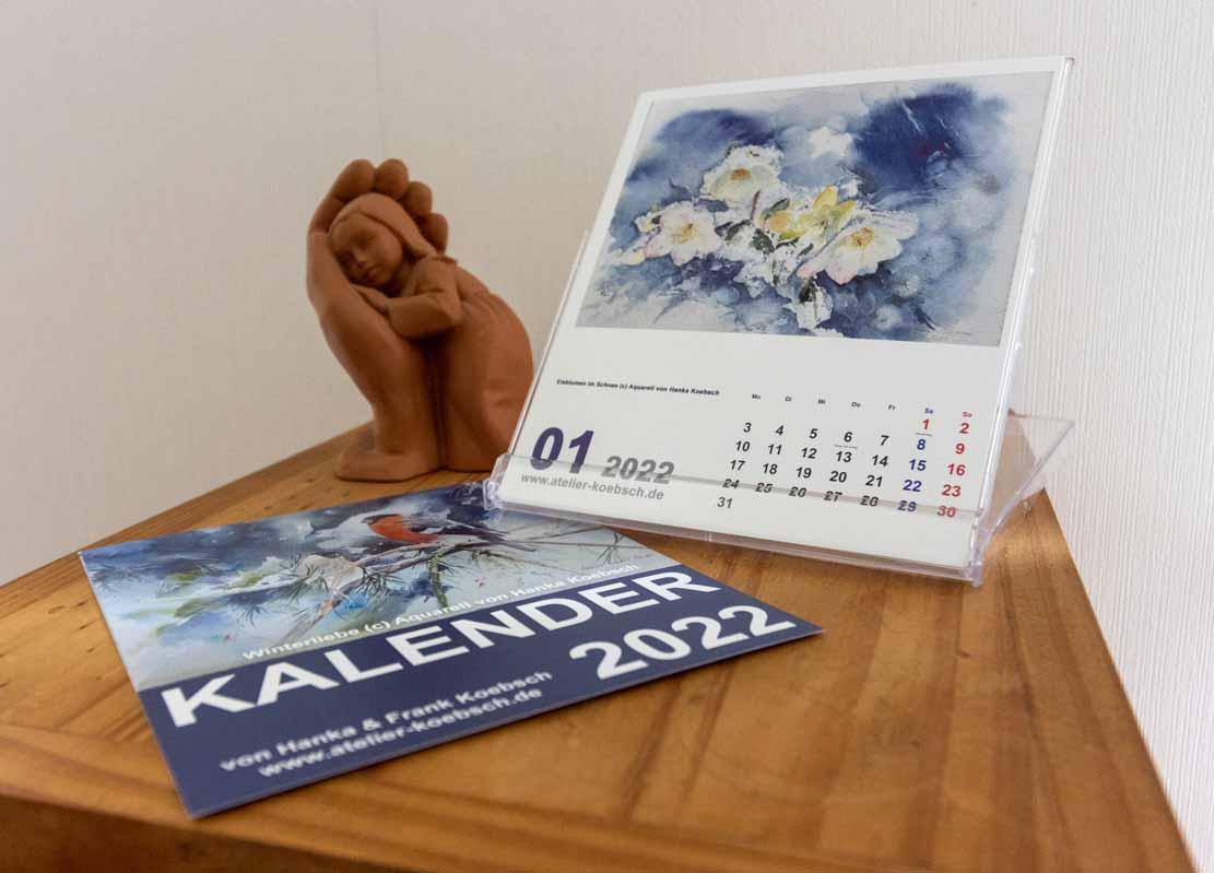 Kalender 2022 mit Aquarellen von Hanka & Frank Koebsch - Aufstellungsvariante (3)