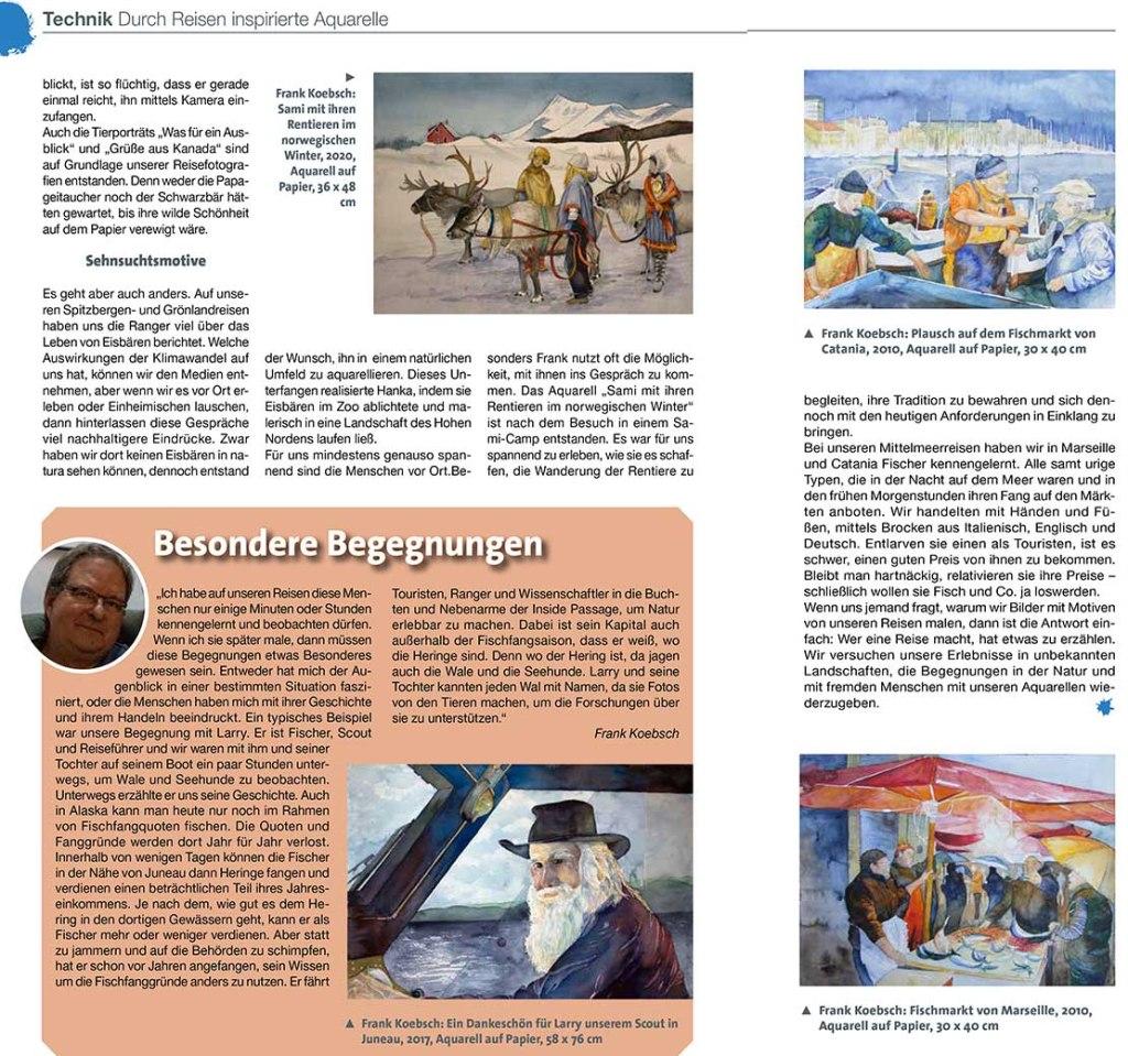 Magie der Farben - Hanka & Frank Koebsch im Palette Magazin 2021 - 4 Seite 20 u 21