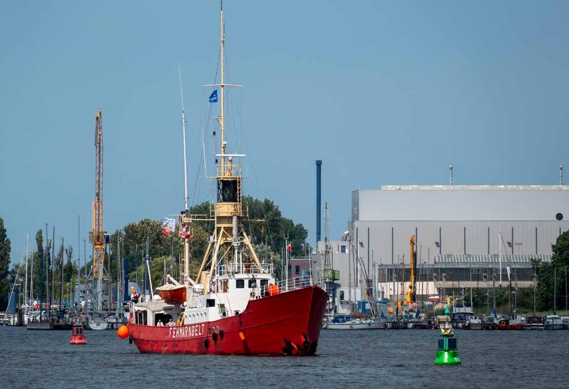 Das Feuerschiff - die Fehmarnbelt auf der Hanse Sail 2021 © Frank Koebsch (1)