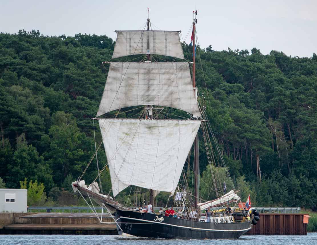 Die Jantje auf der Hanse Sail 2021 © Frank Koebsch (5)