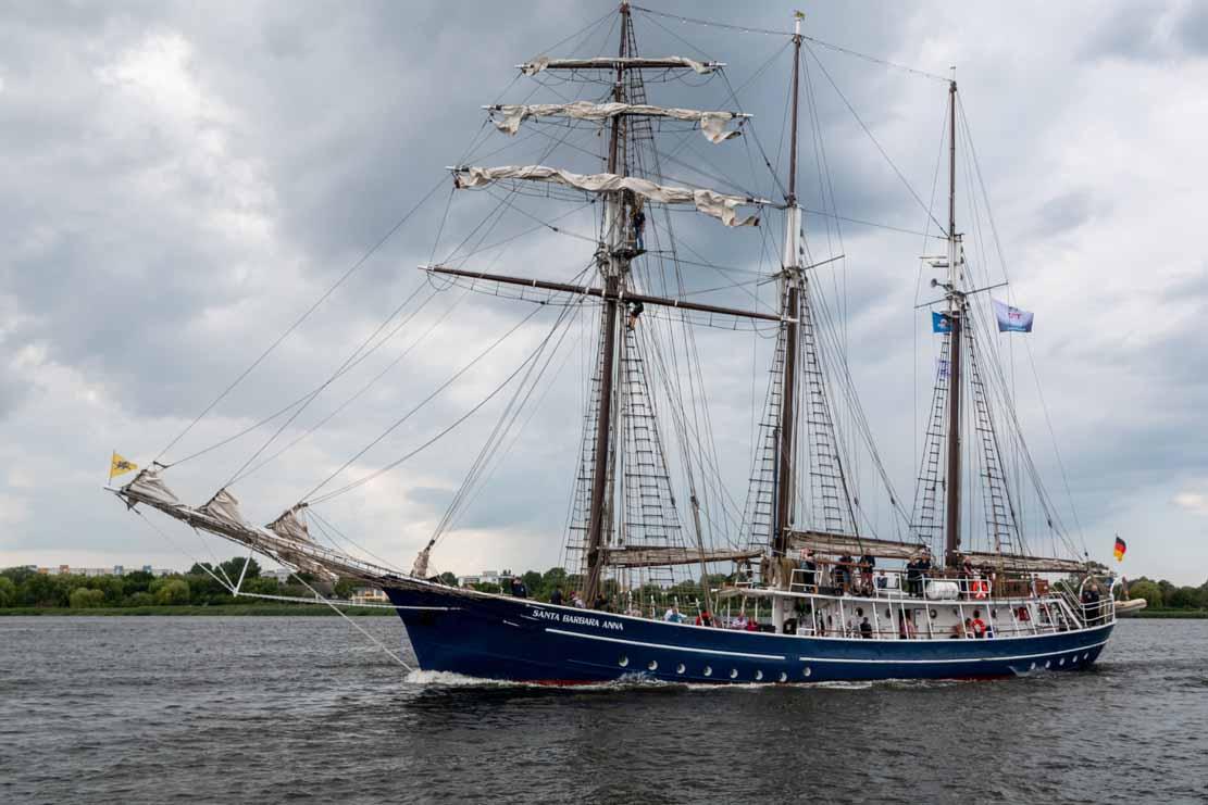 Die Santa Barbara Anna auf der Hanse Sail 2021 © Frank Koebsch (3)
