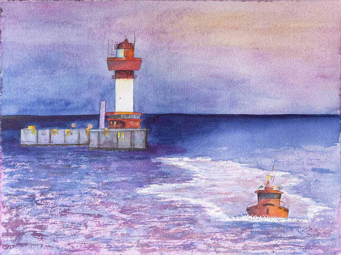 blaue-stunde-morgens-am-leuchtturm-kiel-c-aquarell-von-frank-koebsch-k-1