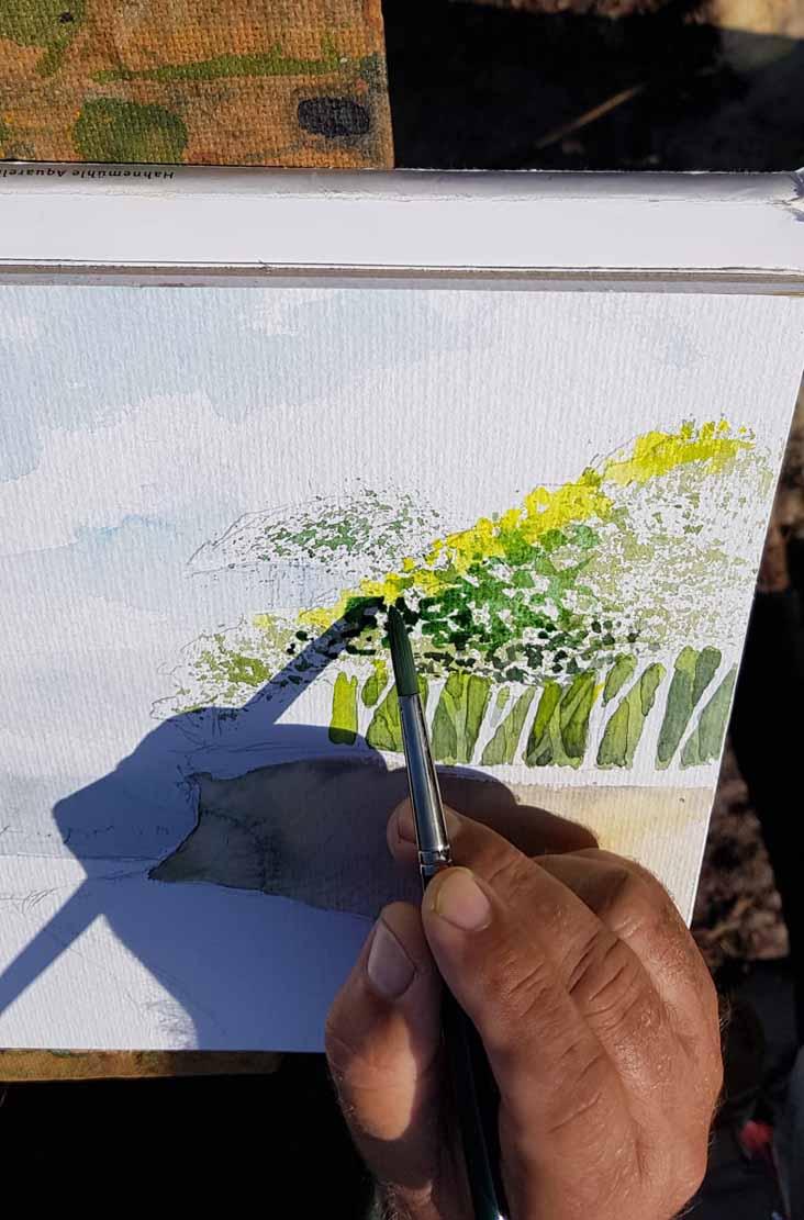 Frank Koebsch malt an der Steilküste von Heiligendamm (c) Alina Unland (1)