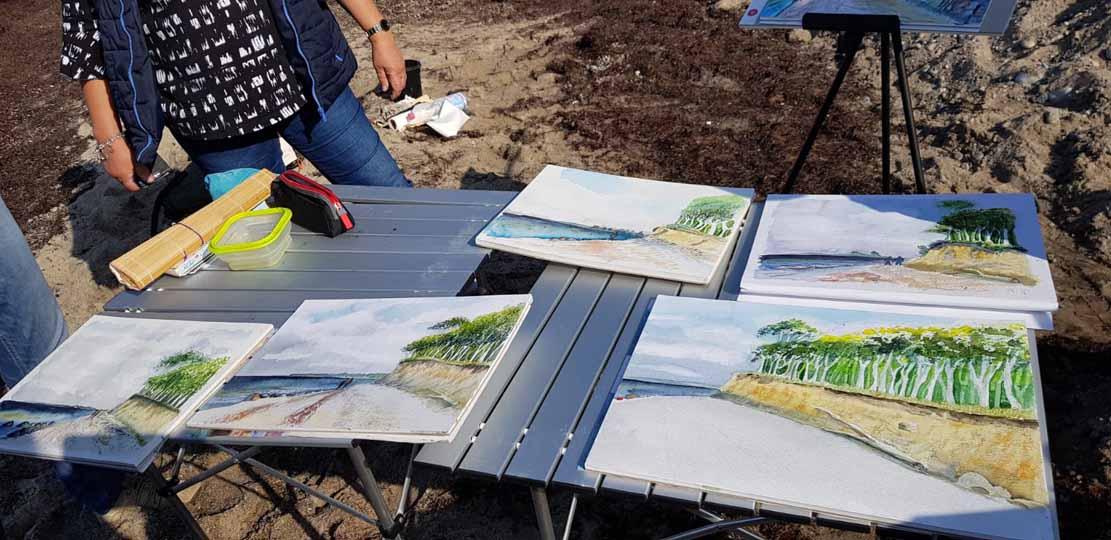 Malen an der Steilküste von Heiligendamm (c) Alina Unland (1)