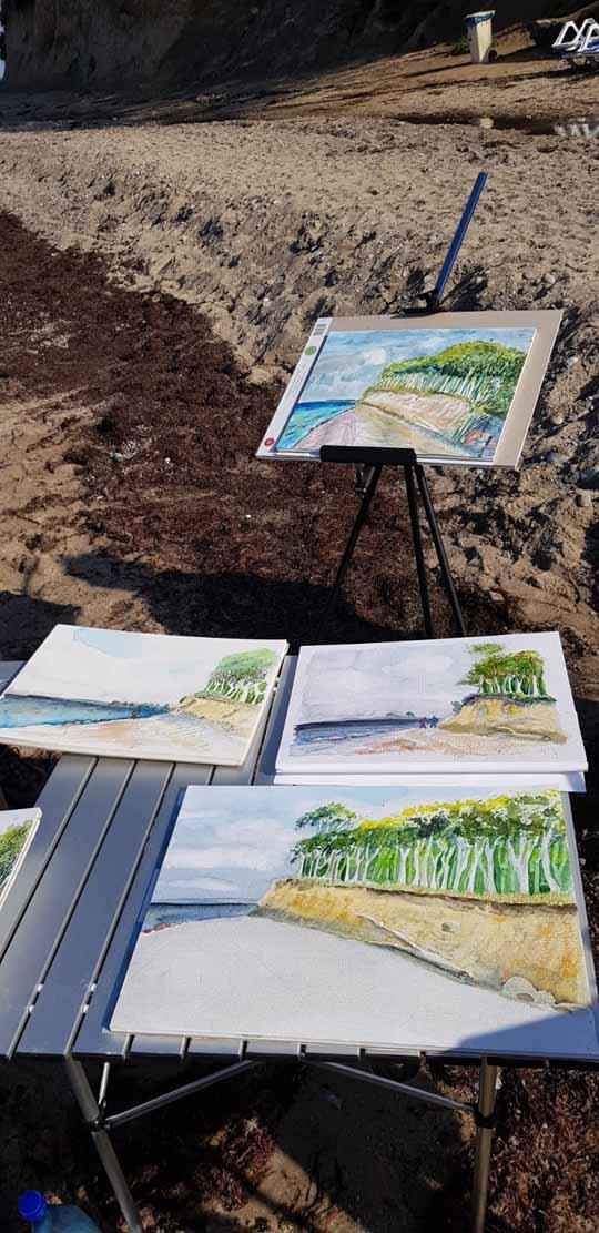 Malen an der Steilküste von Heiligendamm (c) Alina Unland (2)